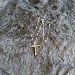 Jewelry - Swarovski Silver Cross Pendant